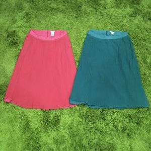 Two J. Crew Skirts Size 8